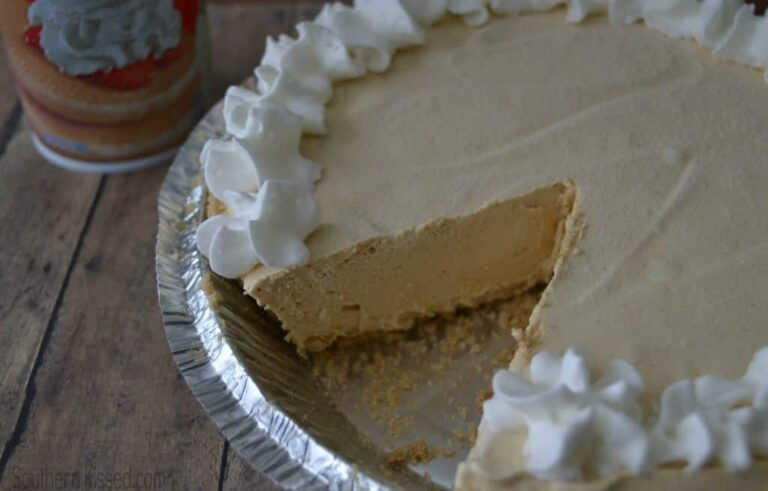 Easy Peanut Butter Pie recipe on SouthernKissed.com