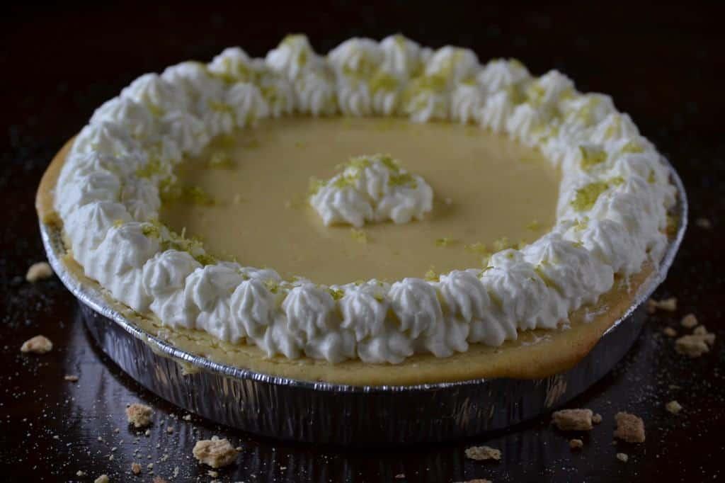 Key Lime Pie with Praline