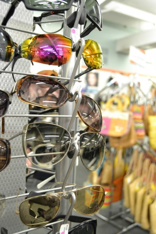 Sunglasses at Unclaimed Baggage Center in Alabama - This is where unclaimed baggage ends up.