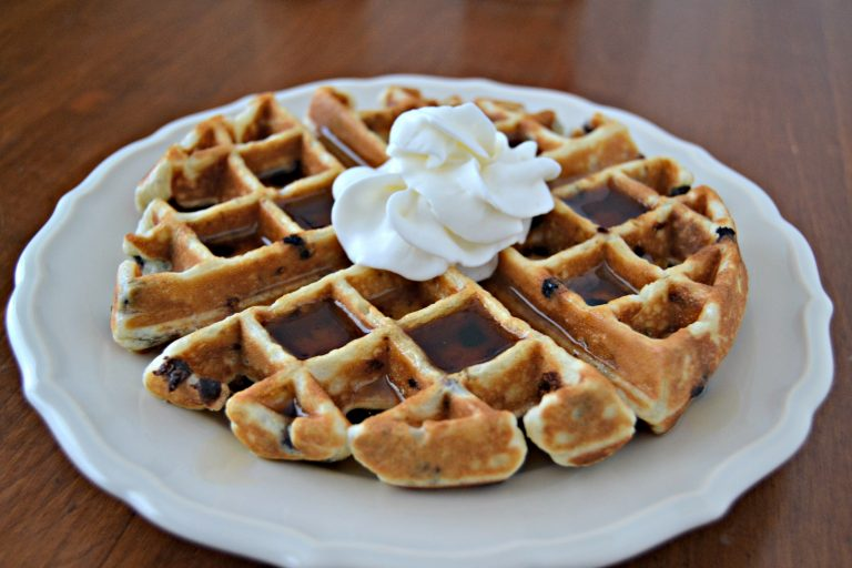 Chia Chocolate Chip Waffles