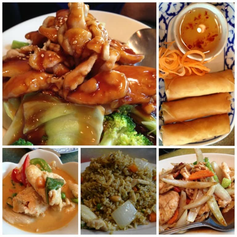 Dishes at Thai Smile in Chattanooga
