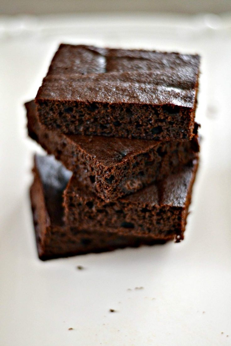 Dark Chocolate Cake Brownies