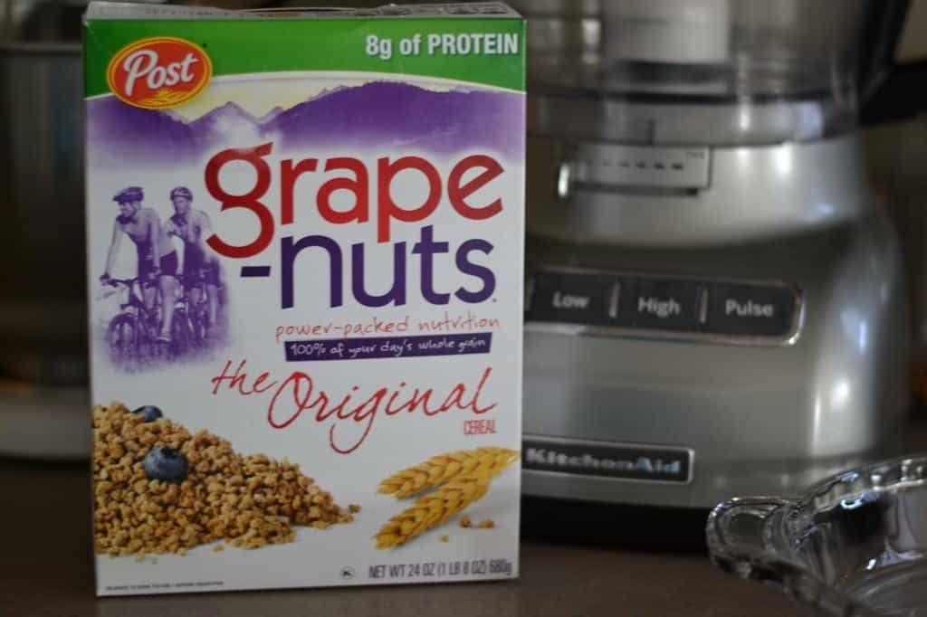Grape Nuts and a food processor