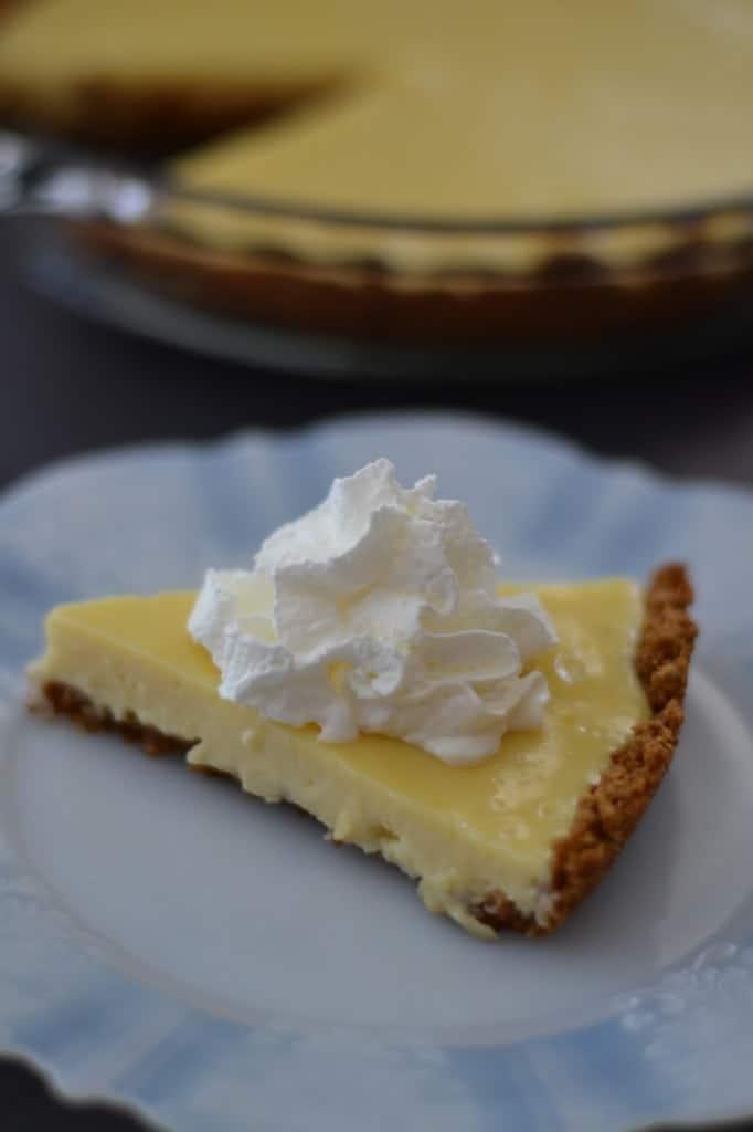 slice of Lemon Pie with Grape-Nuts Crust