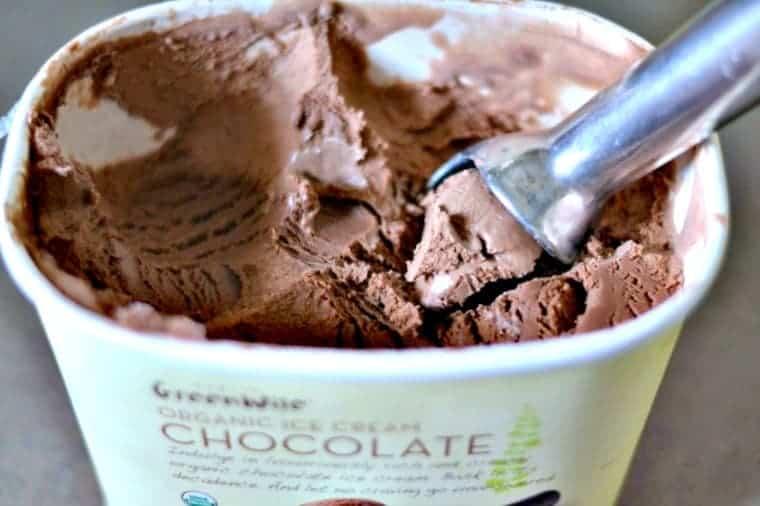 carton of chocolate ice cream