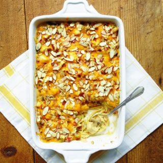 pan of chicken tetrazzini