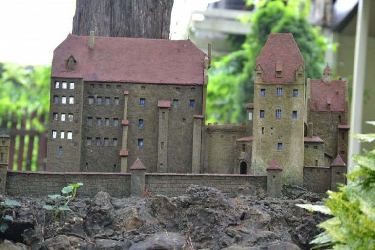 miniature building replica