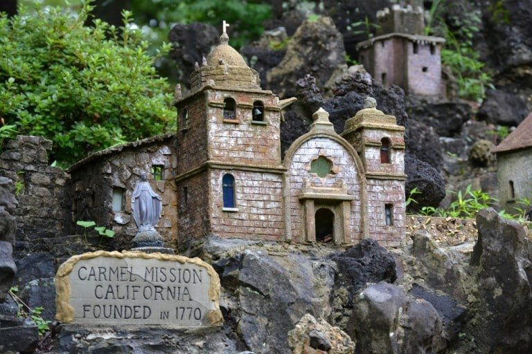 Carmel Mission miniature replica in Cullman