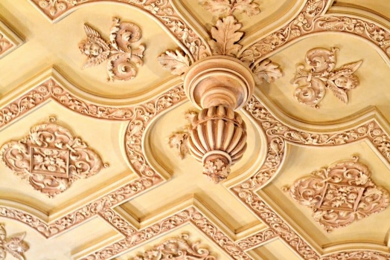 intricate ceiling details