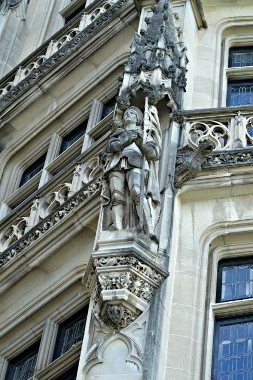 statue on the facade