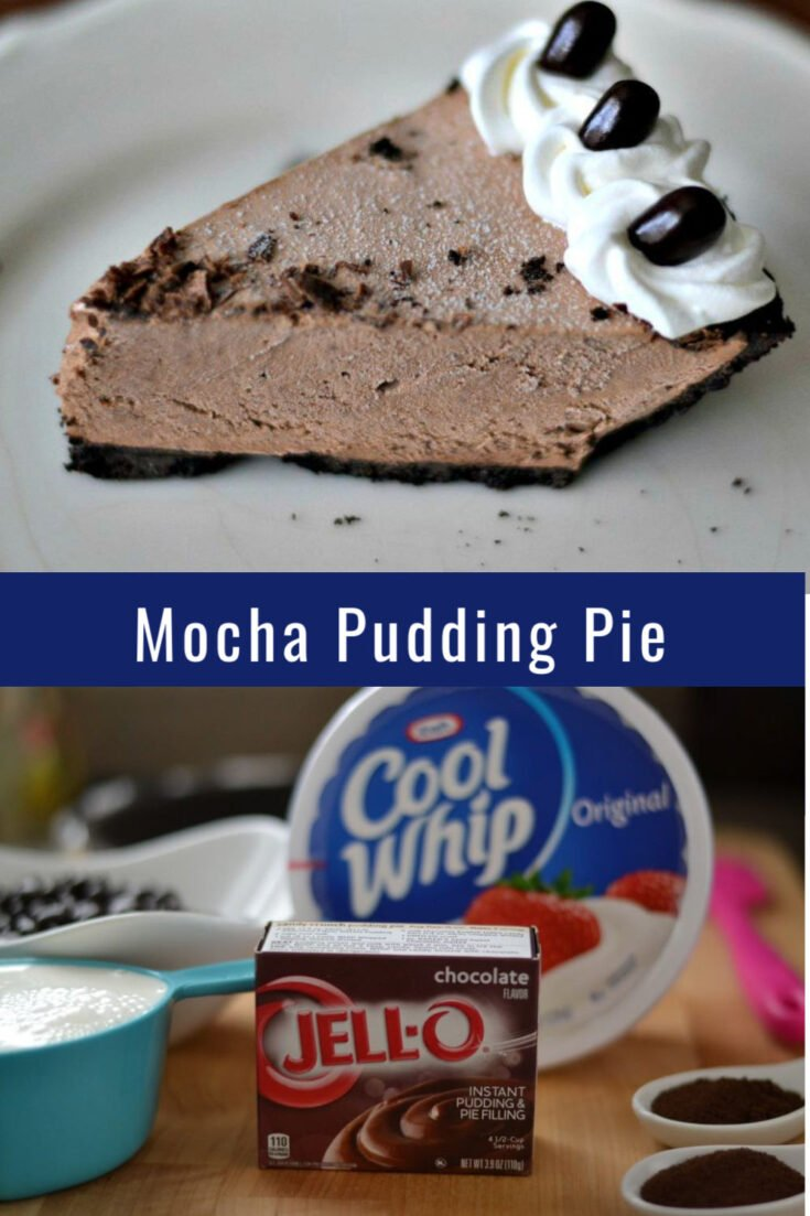 Impress your friends and family with this delicious Mocha Pudding Pie. They will never have to know how easy it is to whip together. #Iceboxpie #pierecipes