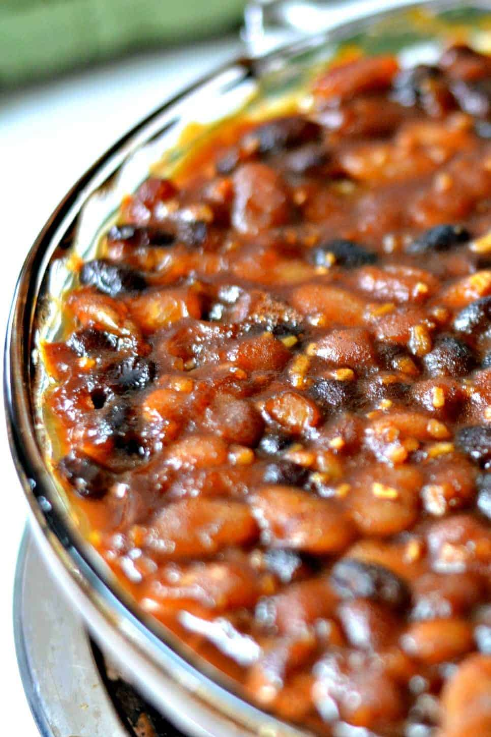 pan of baked beans
