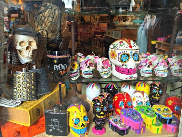 voo doo skulls in New Orleans