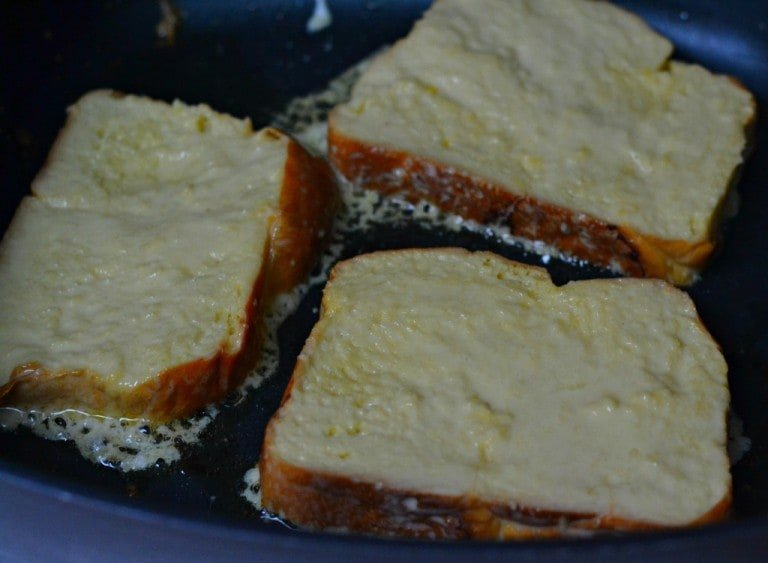 brioche French toast in skillet recipe