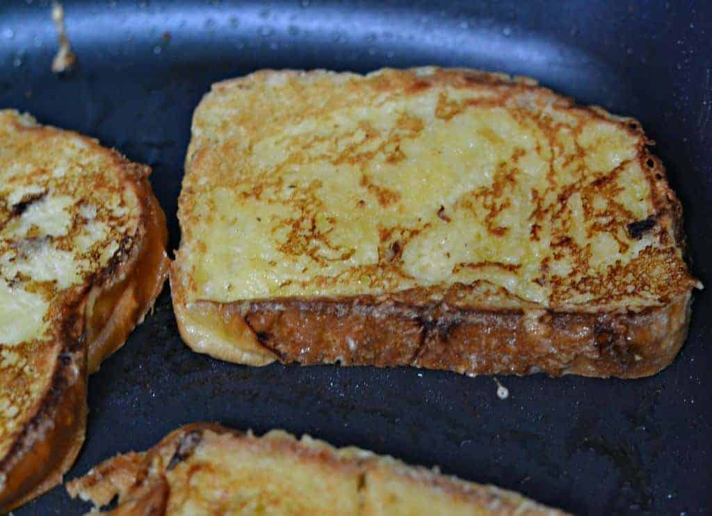 brioche French toast in pan