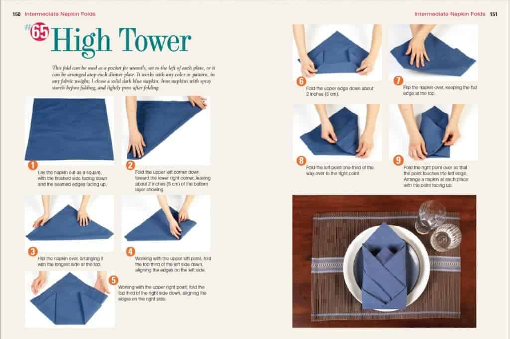 directions for folding napkin