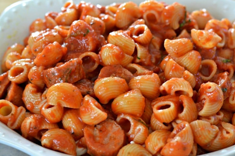 Italian Sausage Bake - recipe for an easy to make family dinner at SouthernKissed.com