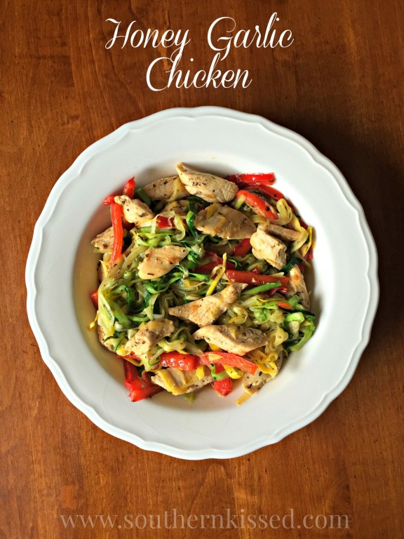 Honey Garlic Chicken - one of my favorite recipes for a delicious, healthy dinner - or lunch!