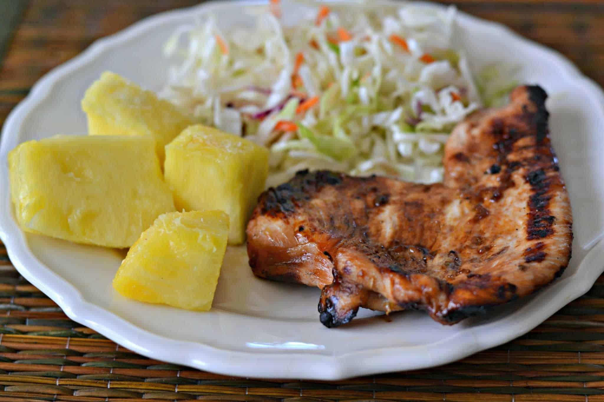 Teriyaki Turkey on a plate