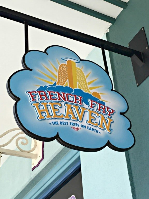French Fry Heaven sign
