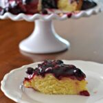 Lemon Polenta Cake with Blueberry Sauce | SouthernKissed.com