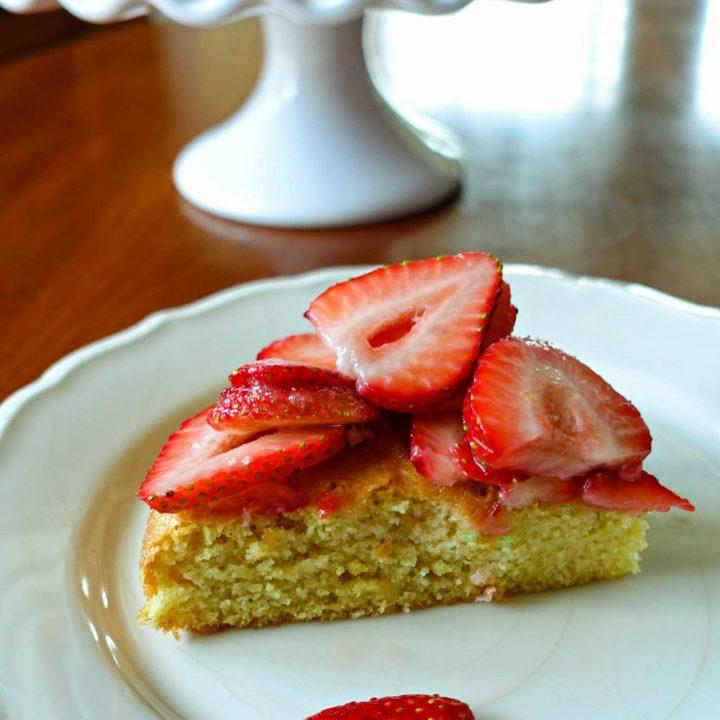 Strawberry Almond Flour Cake from King Arthur Flour