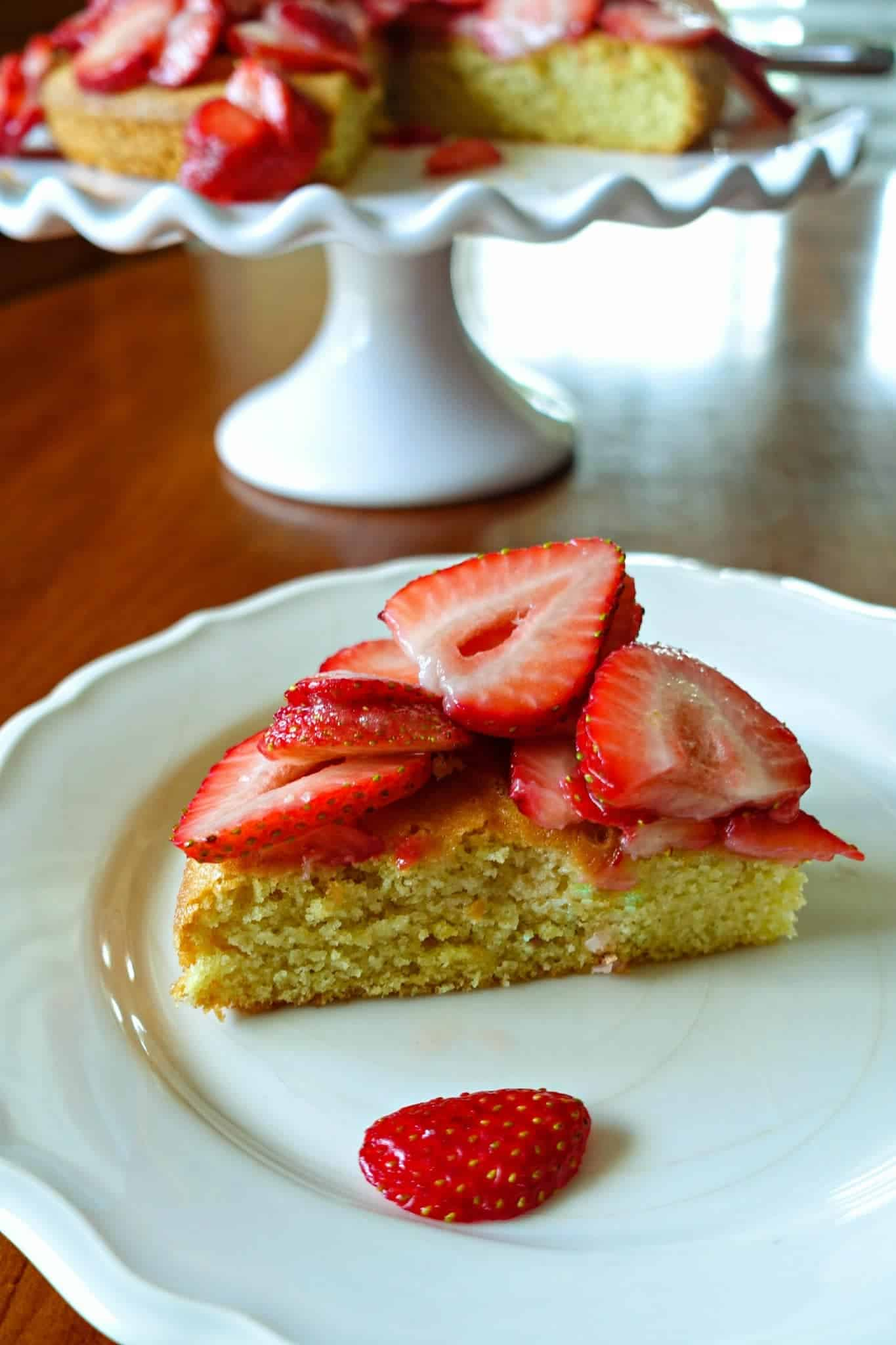 Strawberry Almond Flour Cake from King Arthur Flour