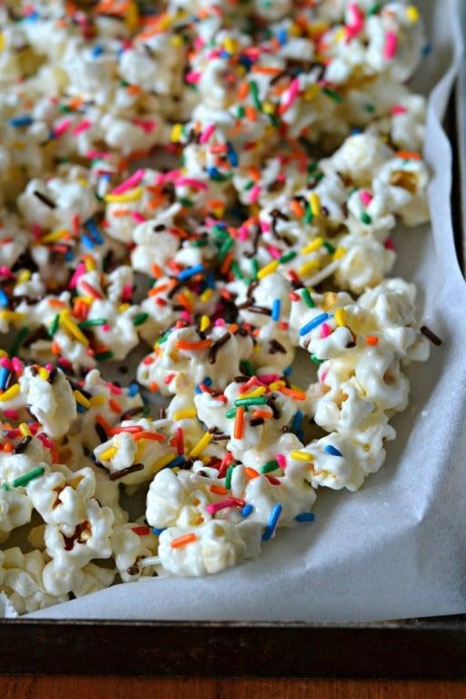 Funfetti Popcorn cooling