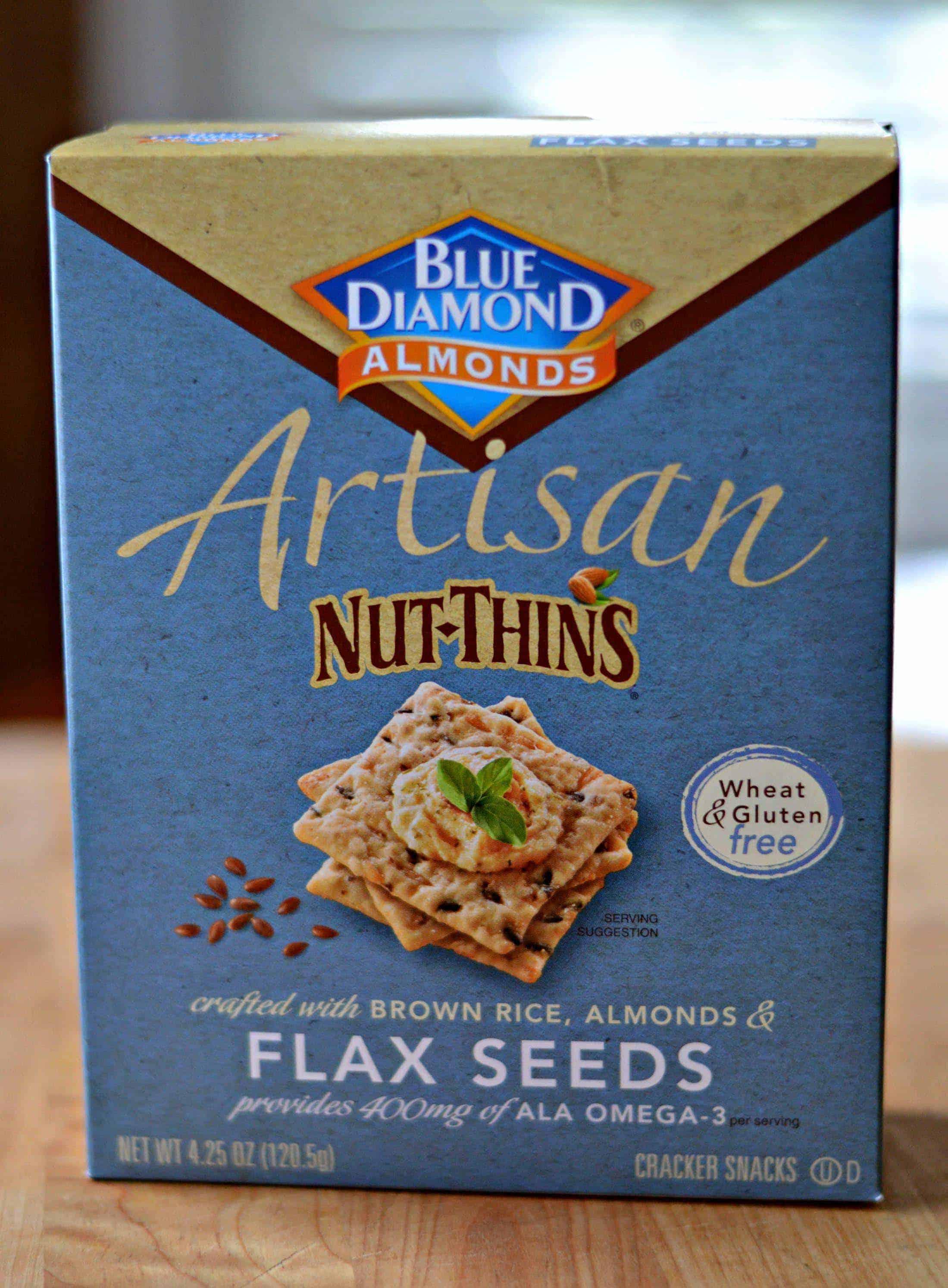 box of Blue Diamond Nut Thins