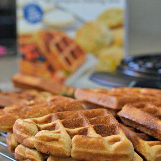 waffles on a baking rack