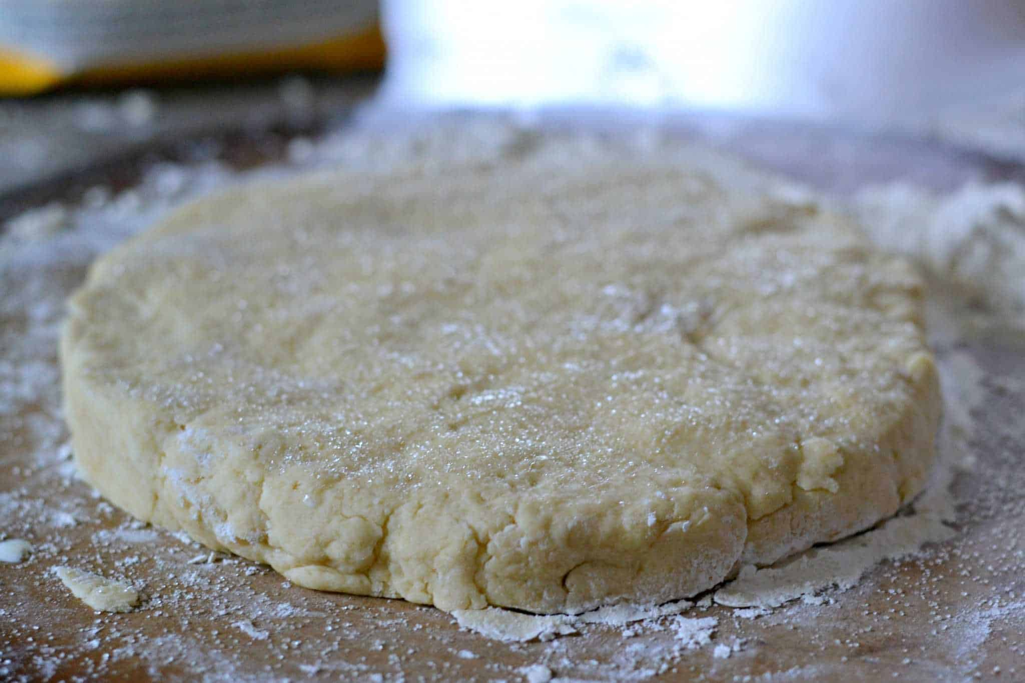 Sugar On Top of biscuit dough