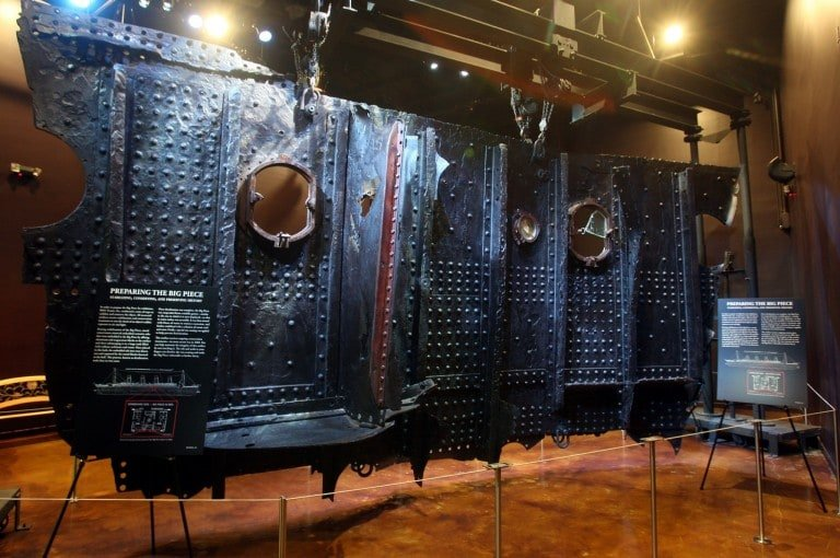 'The Big Piece,' displayed at Titanic The Artifact Exhibition in Vegas, is a 15-ton section of the 'Ship of Dreams' and is the largest artifact ever recovered