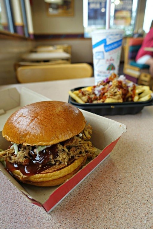 Wendy's BBQ sandwich and fries