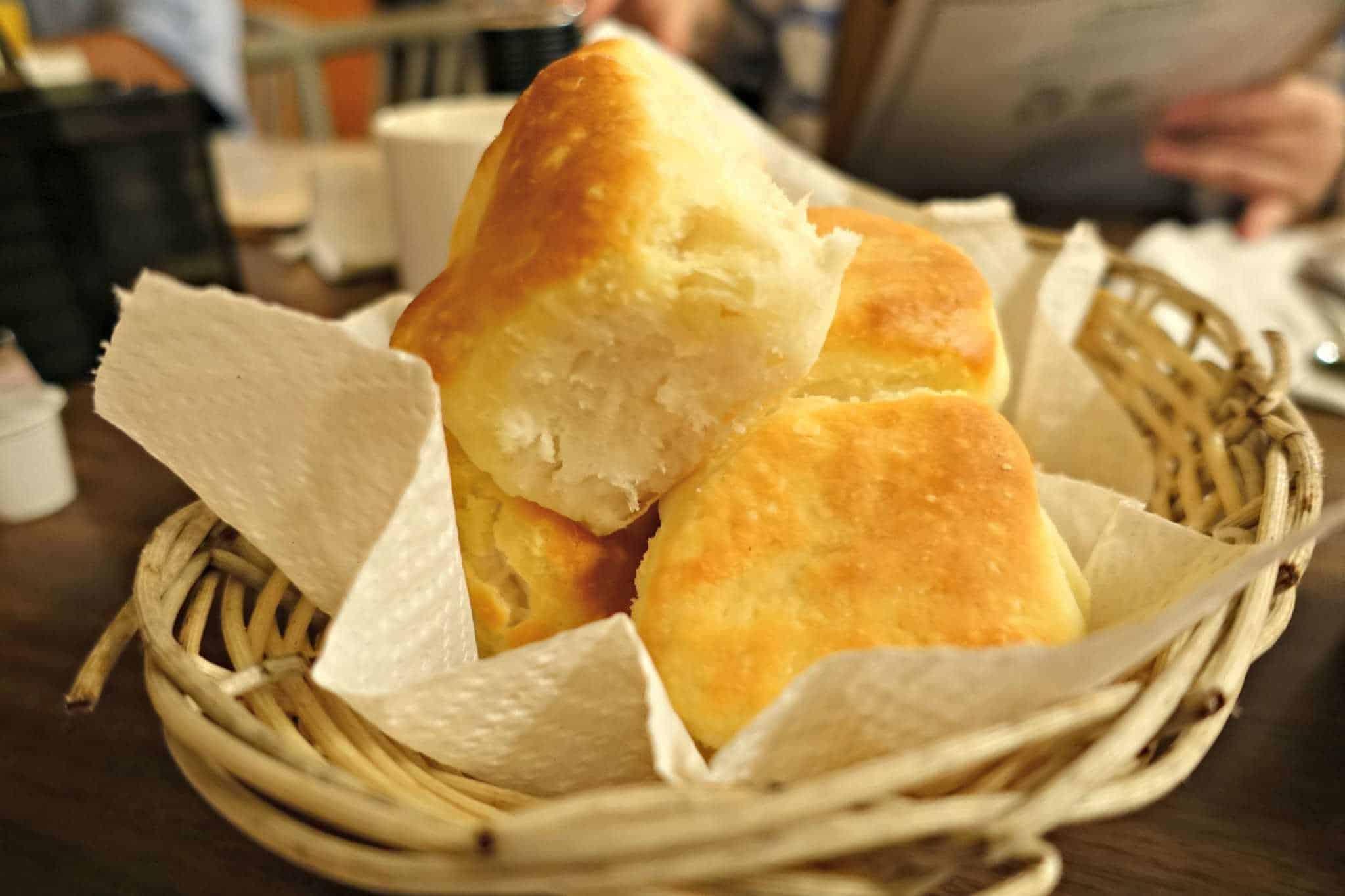 Biscuits in Roanoke, Virginia at the Roanoker