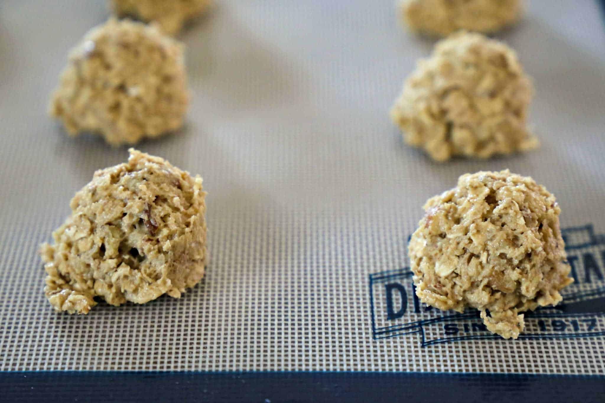 cookie Dough Balls on Silpat