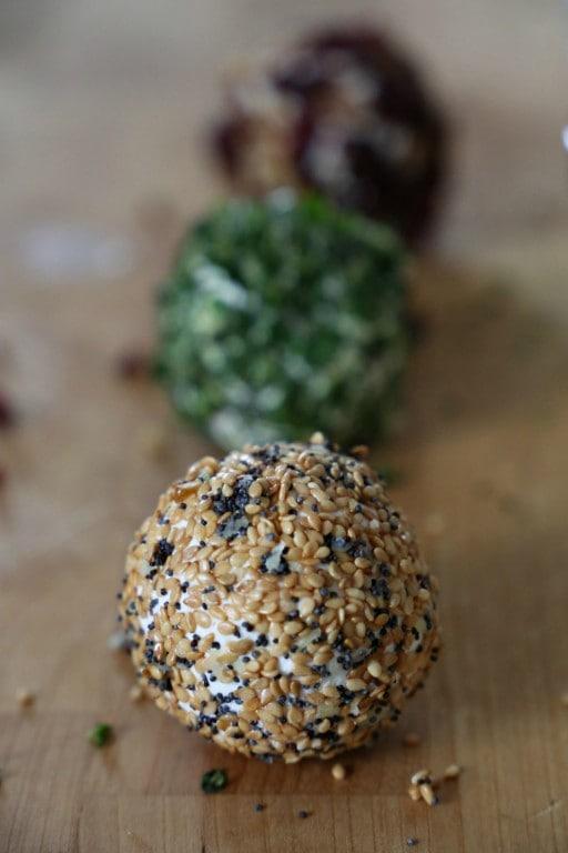 Coated Savory Cheeseballs