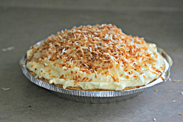 coconut pie with toasted coconut