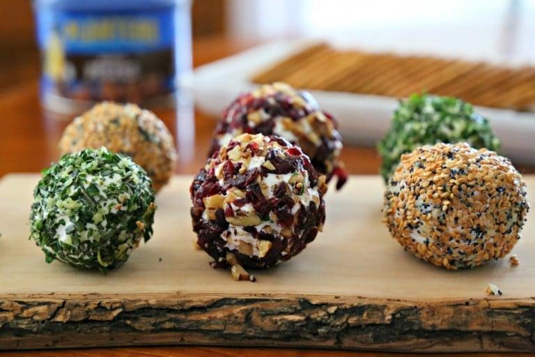 Delicious savory mini cheeseballs