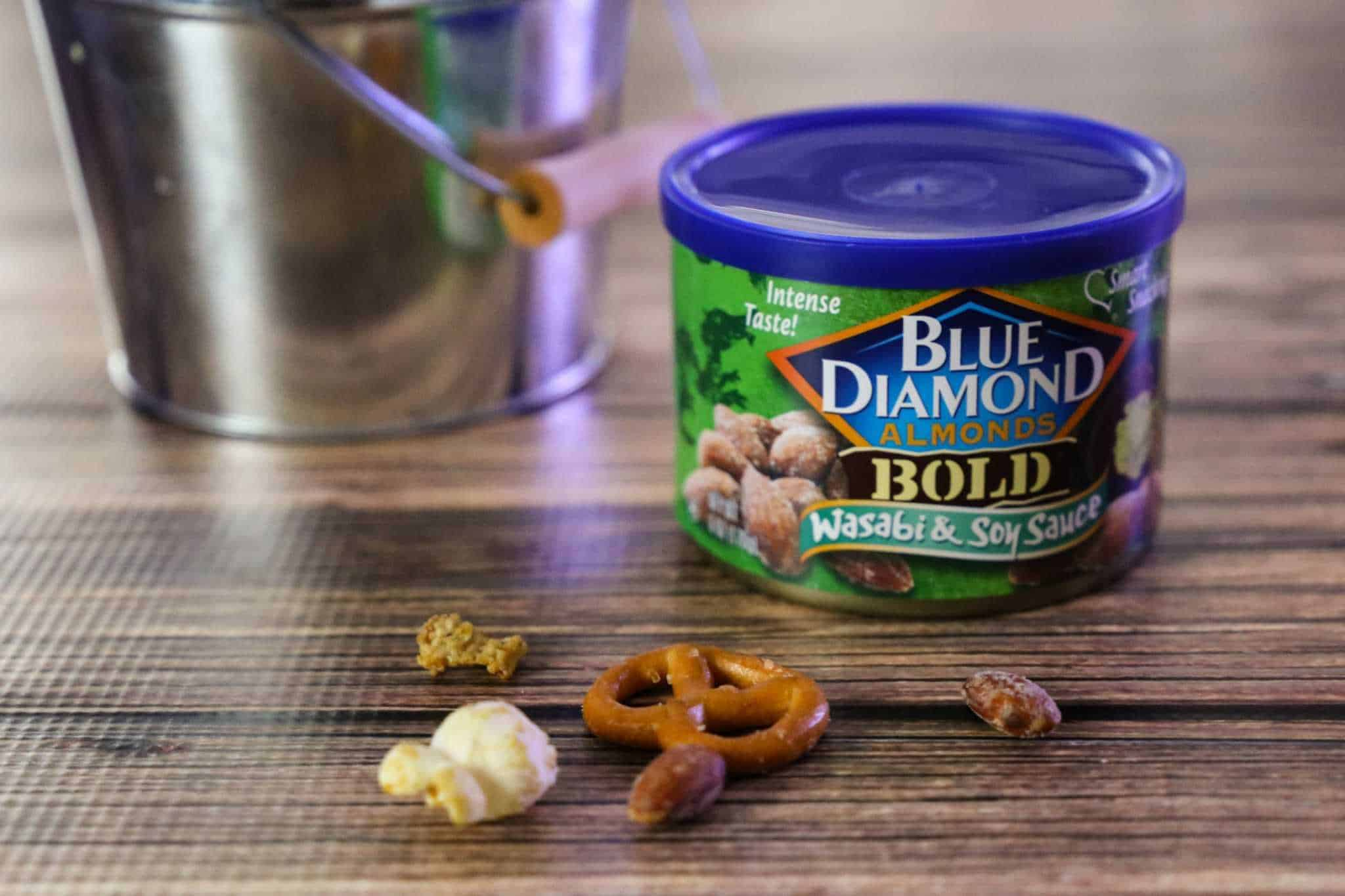 can of Blue Diamond Wasabi and Soy Sauce Almonds