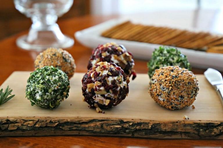 Savory Mini Cheeseball appetizers