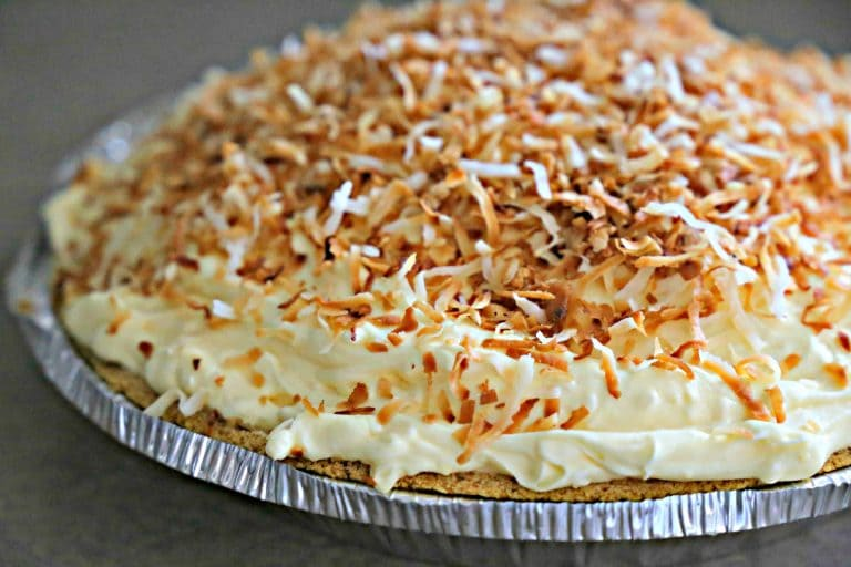 This recipe for creamy no-bake Coconut Cream Pie makes a dessert that is company-worthy.  Topped with toasted coconut, it's sure to please.