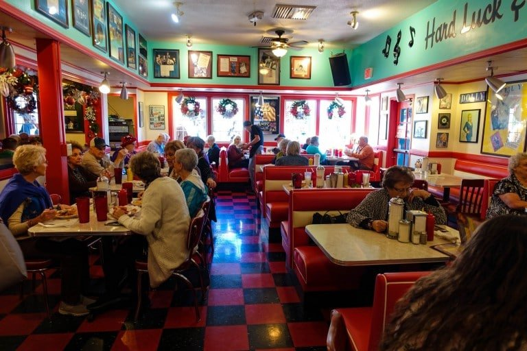 Inside Mel's Hard Luck Diner in Branson