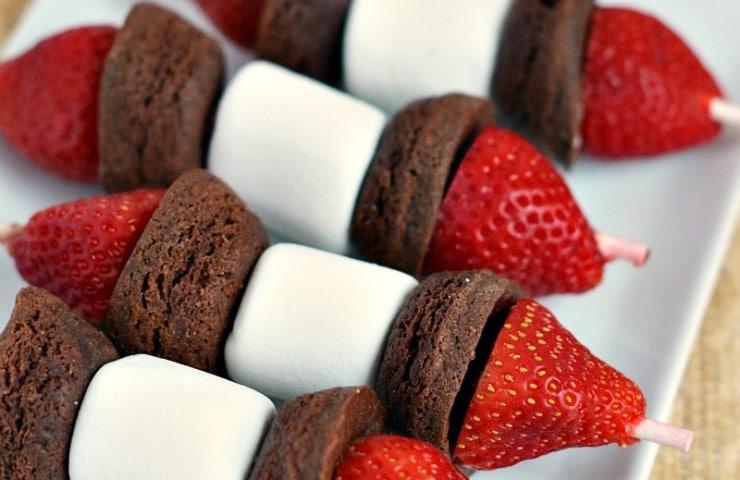 Brownie Fruit Kabobs