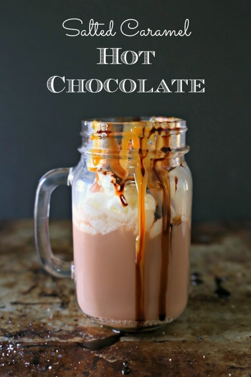 Salted Caramel Hot Chocolate - this recipe is super easy for making the BEST and easiest Salted Caramel Hot Chocolate. This foolproof recipe will change the way you make hot chocolate from now on. #TryTruMooHot #Recipe