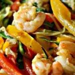 bowl of shrimp scampi