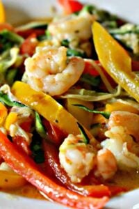 Low Carb Shrimp Scampi With Veggies