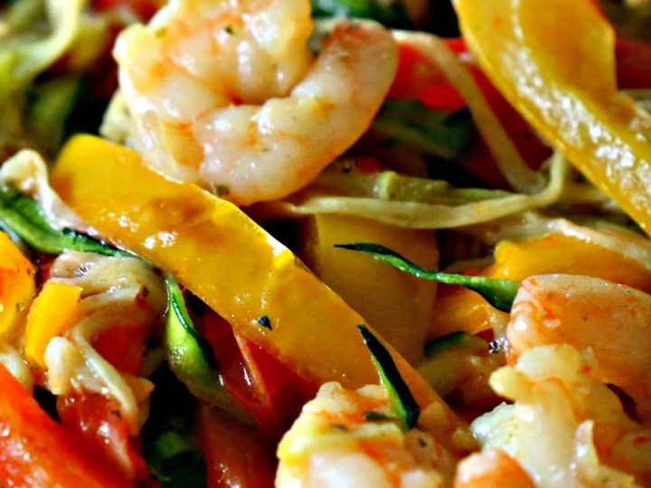 Low Carb Shrimp Scampi With Veggies