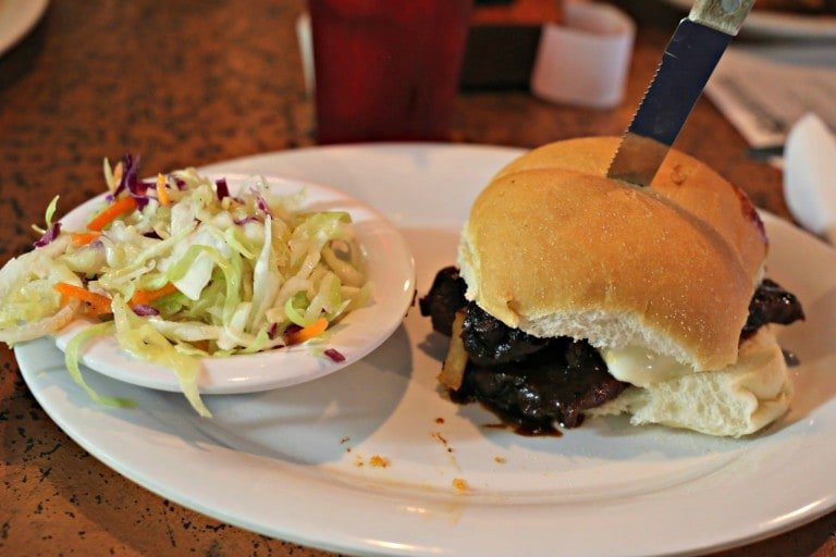 Texas Brisket Sandwich at Shipwrecked Brew Pub