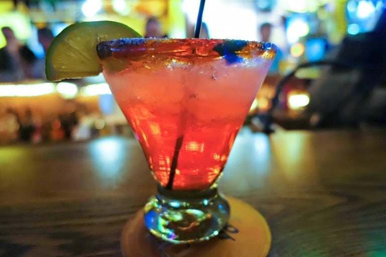 Cherry Margarita at Mojo Rosa's