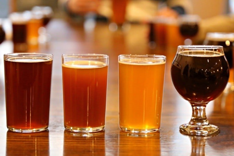 Flight of Beers at Starboard Brewing